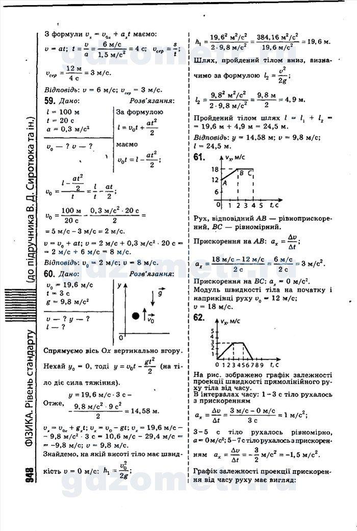 Гдз 10 класс физика сиротюк