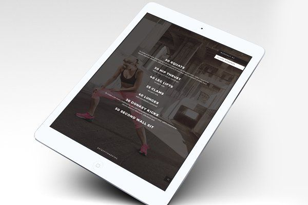 Fitness Modern Ebook Template by Providence Studio on