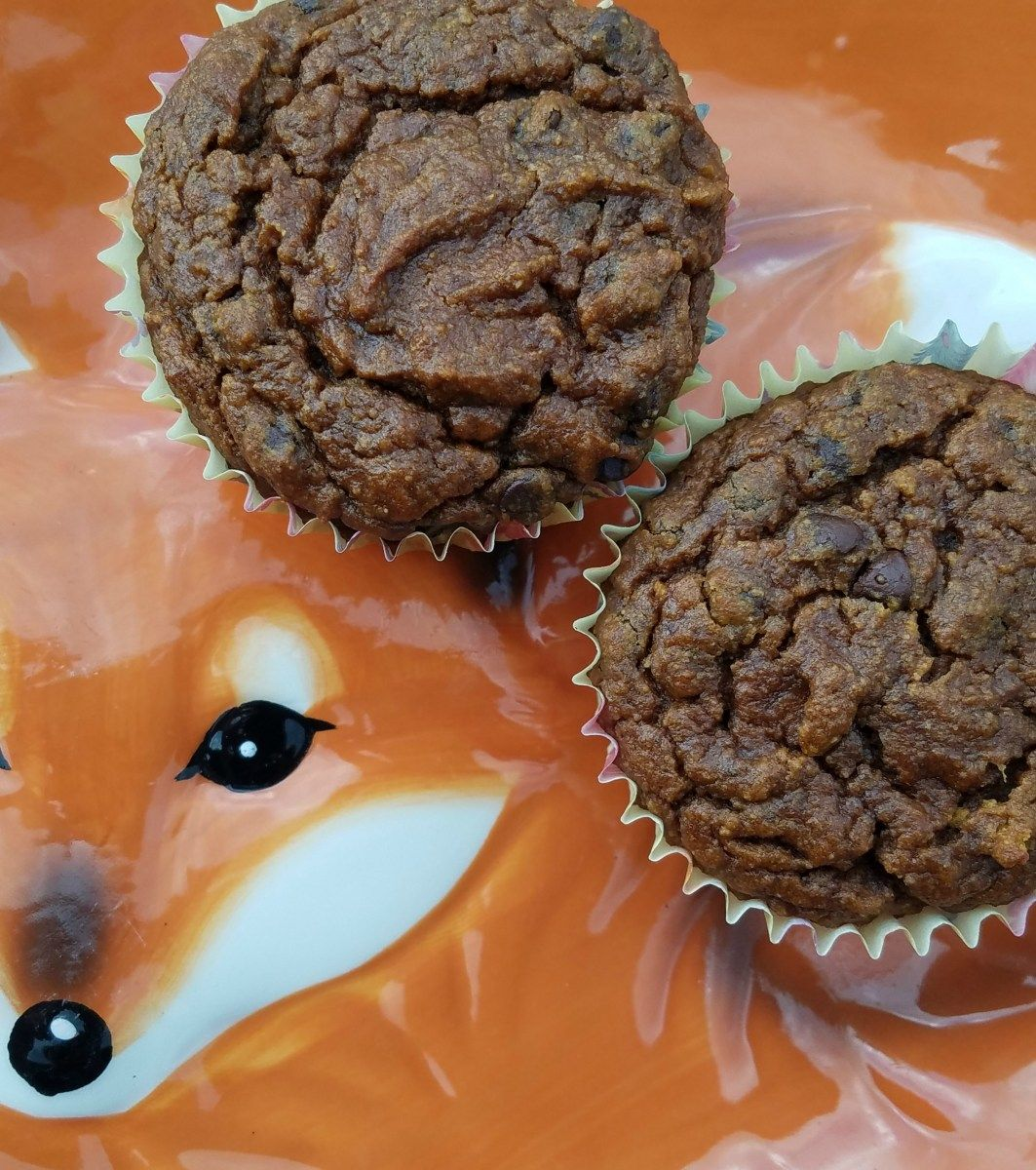 Cake mix pumpkin chocolate chip muffins burnt apple