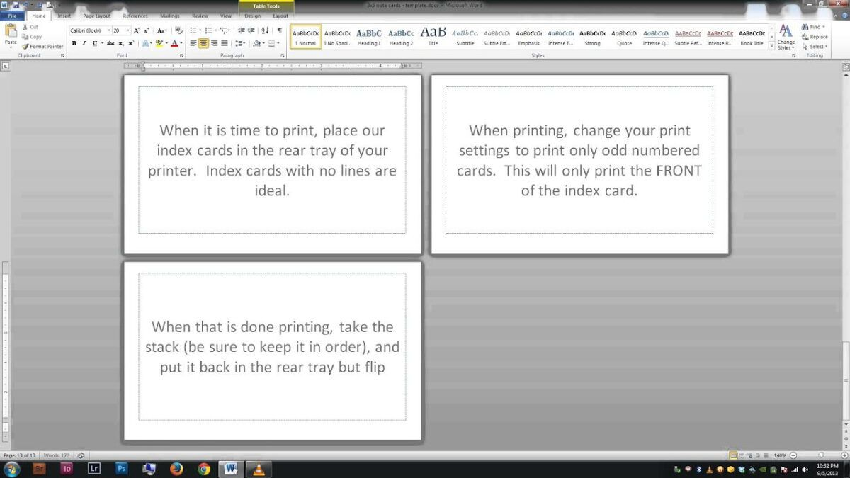 Note Index Cards Word Template With Microsoft Word Index Card Template Note Card Template Birthday Card Template Word Template