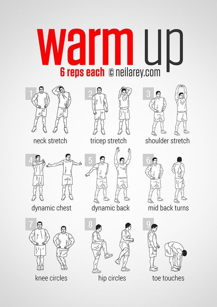 Pre Workout Warm Up I Would Do Few More Warm Up Exercises Beside These Above When You Feel Youre Started To Sweat Than You Can Go On And Start Training