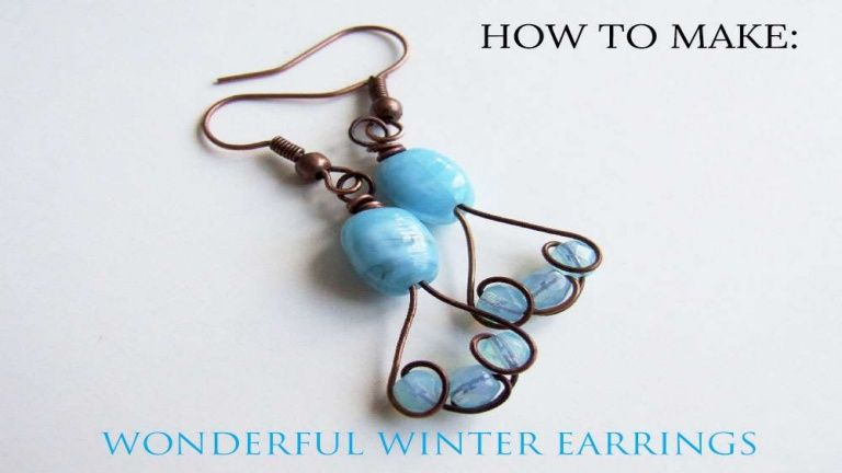 Simple Wire Earring DIY Jewelry Making Tutorial #handmadejewelry ...