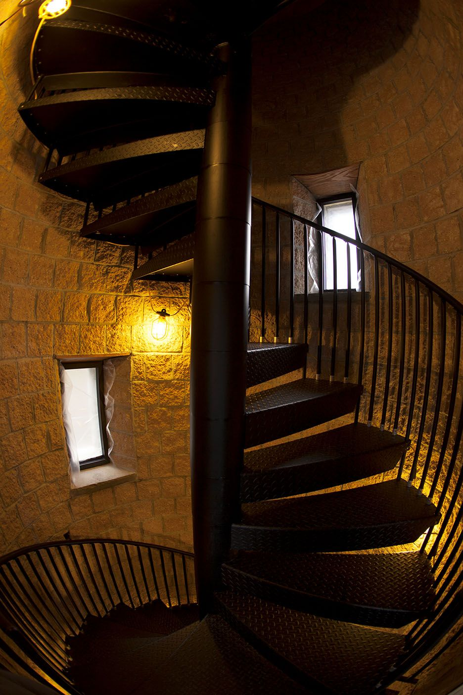 Church Tower Spiral Stair   Classic Steel Spiral Stair