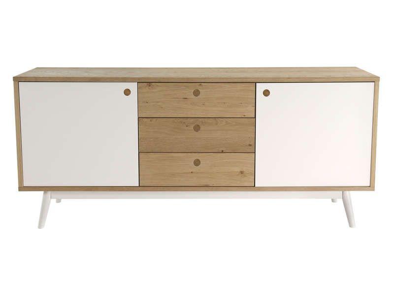Buffet 2 portes + 3 tiroirs ISLAND - Buffet Conforama - Ventes-pas