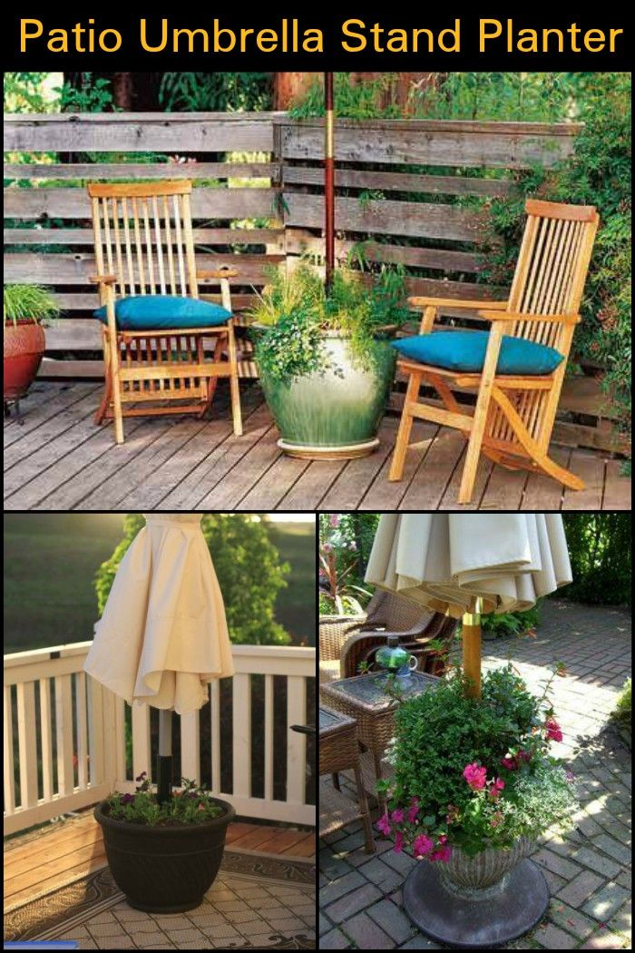 DIY Heavy Duty Patio Umbrella Stand And Planter In One!