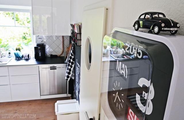 unsere selbstgebaute metod IKEA küche in schwarz-weiß luzia - küche schwarz weiß
