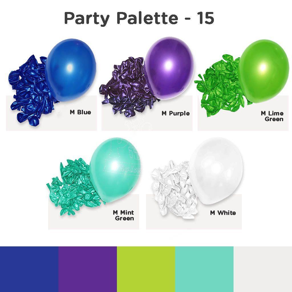 Balloon Colour Palette 15 Party Inspiration Balloons