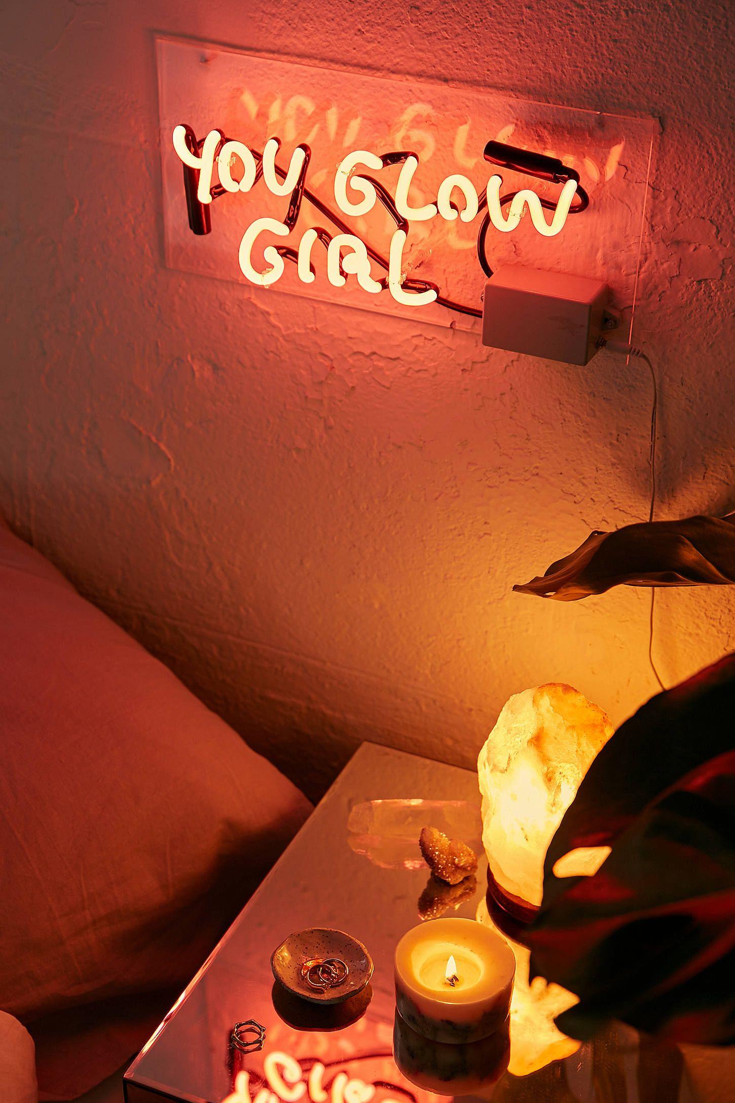Amber Ibarreche UO Exclusive You Glow Girl Neon Sign