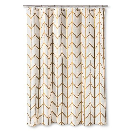 Shower Curtain Gold Ikat - Threshold™ : Target | Bathroom ...