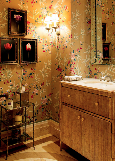 Should I do this with my cockatoo wallpaper? Mario Buatta   Designers Who Inspire Me