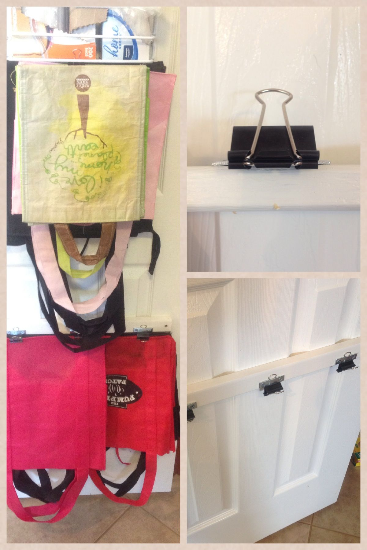 Reusable Bag Storage (With images) Grocery bag storage