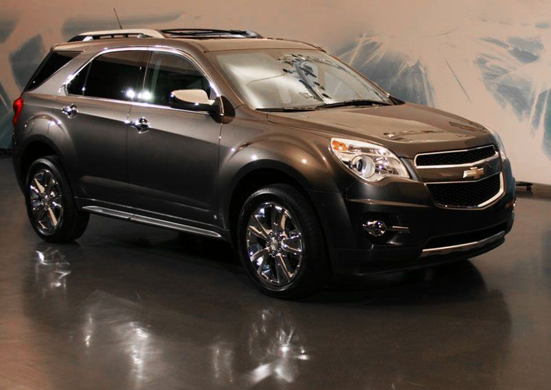 Chevy Equinox- possibly in the dark blue :) it has third row seating and get like 32 mpg, i ...