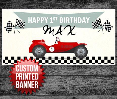Car Birthday Banner Custom Race car Birthday Banner Red Race Car Banner Race Car Birthday Banner Custom Race Car Banner