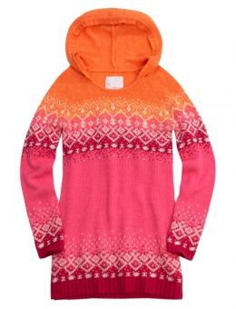 Fair Isle Hooded Sweater Tunic (didn't have her size in blue/green ...