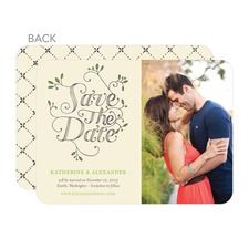 Fairytale Foliage Save The Date Cards
