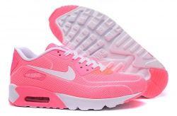 784e2287ef3a4 Zero Defect Nike Air Max 90 Fireflies White Pink Women s Running Shoes  Trainers 819474 010
