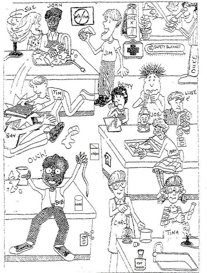 Cartoon On Lab Safety Science Lab Safety Science Safety Lab Safety Activities Lab safety cartoon worksheet