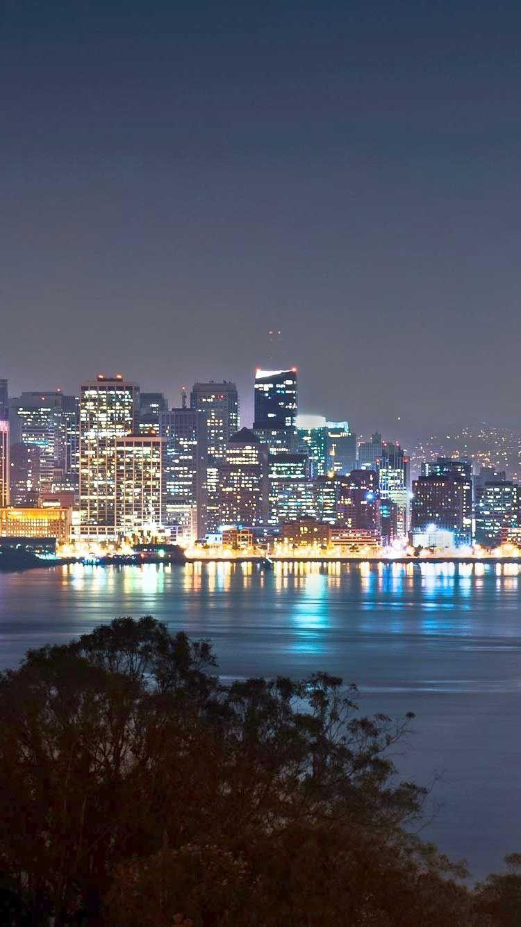 San Francisco At Night Wallpaper Wallpaper Iphone Hd
