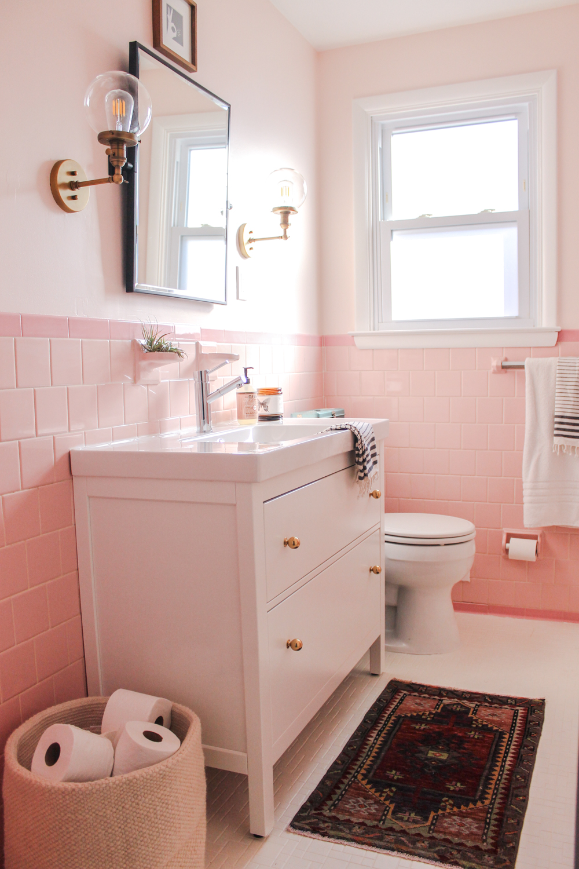 Pink Bathroom Google Search Pink Bathroom Decor Pink Bathroom