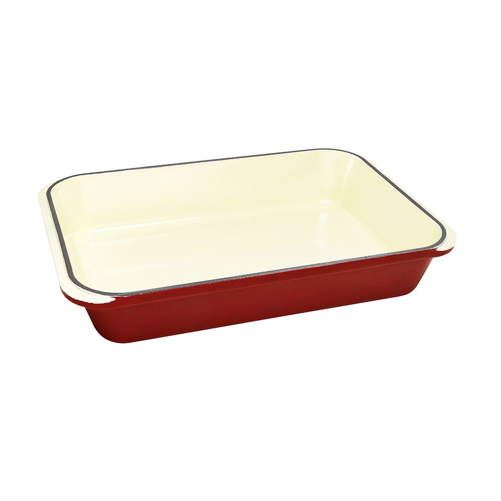 Chasseur Cast Iron Rectangular Roasting Pan 33 X 21cm Federation Red Buy Online Jconline Com Au Chasseur Cookware Roaster Roast Roasting Pan Cast Iron Pan
