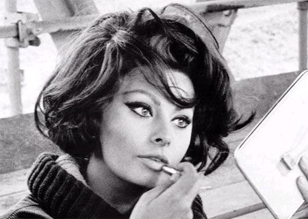 Sophia Loren was and still is a great beauty and actress. Those eyes. Those cheekbones. Lovely.