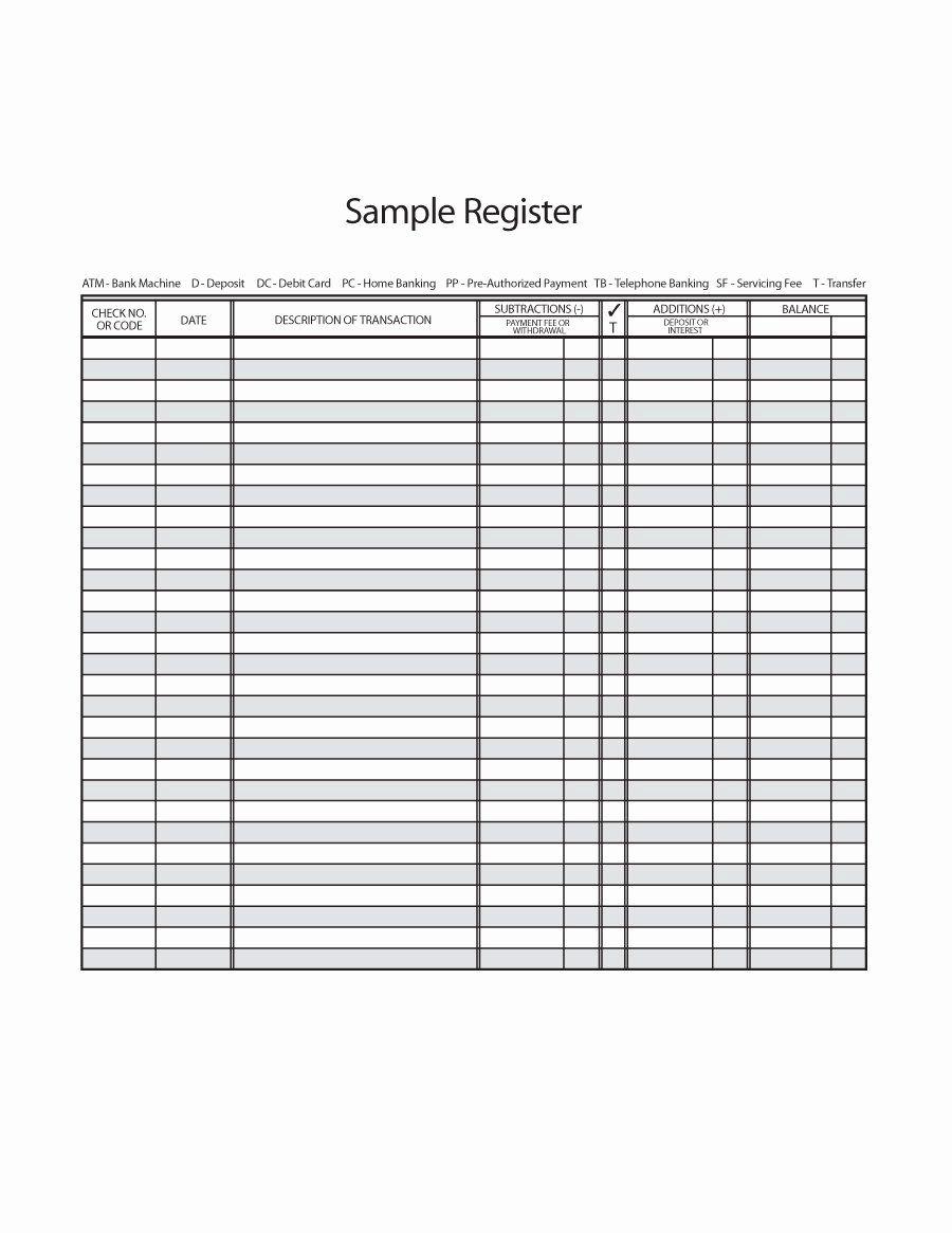 Bank Ledger Template Lovely 37 Checkbook Register Templates Free Printable Printable Check Register Printable Checks Templates Printable Free
