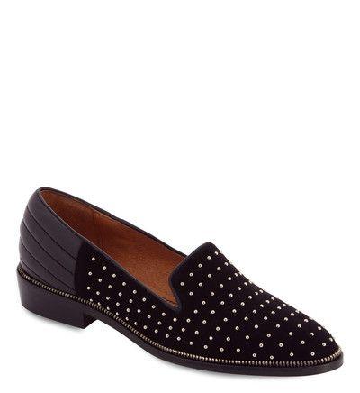 bf008db9ab4 Slippers cuir à clous dorés The Kooples en noir pour femme - Galeries  Lafayette