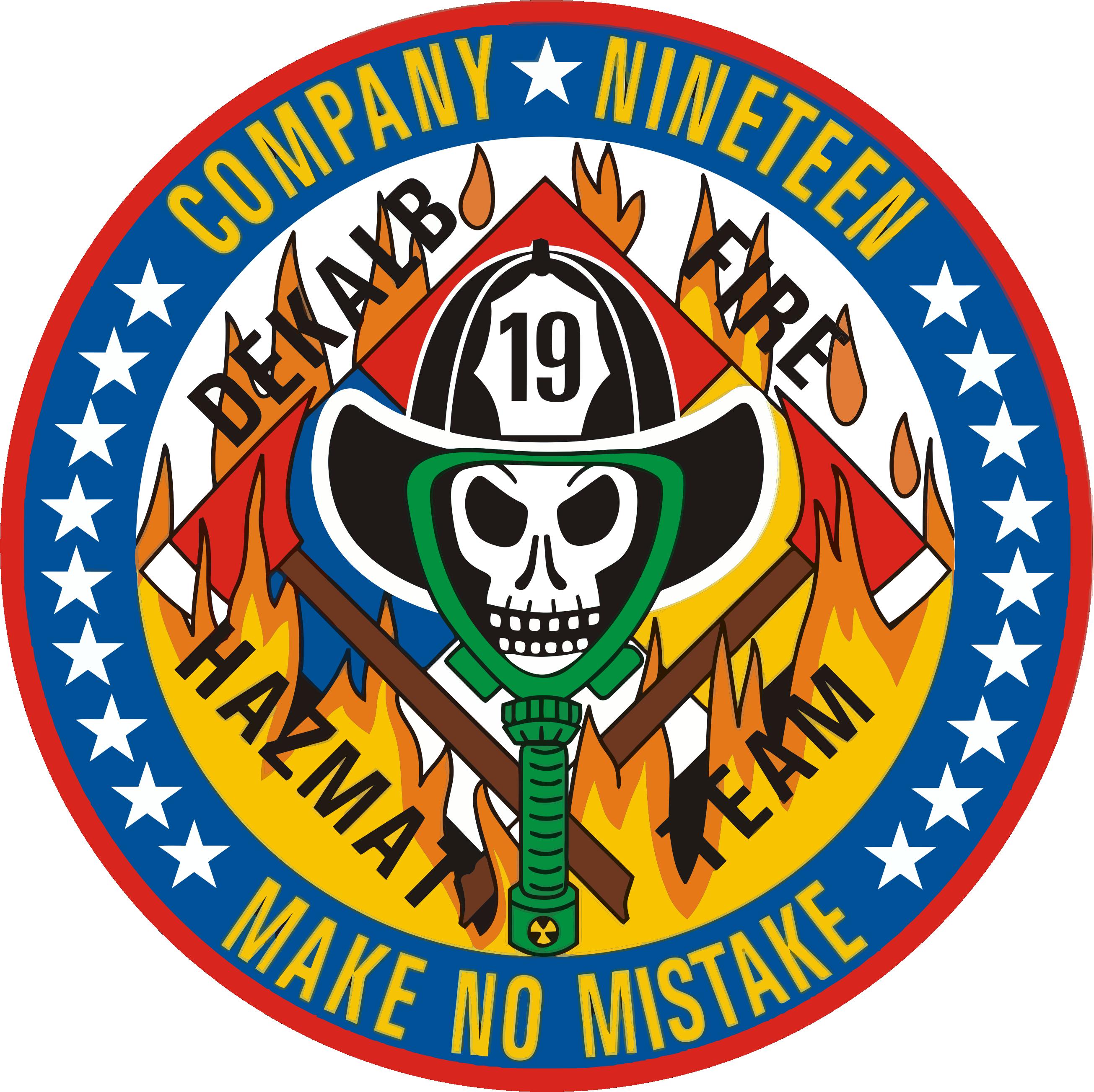 Dekalb County Company 19 Sticker By