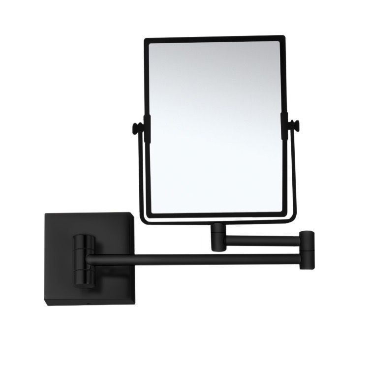 Matte Black Double Face 5x Wall Mounted Magnifying Mirror Wall