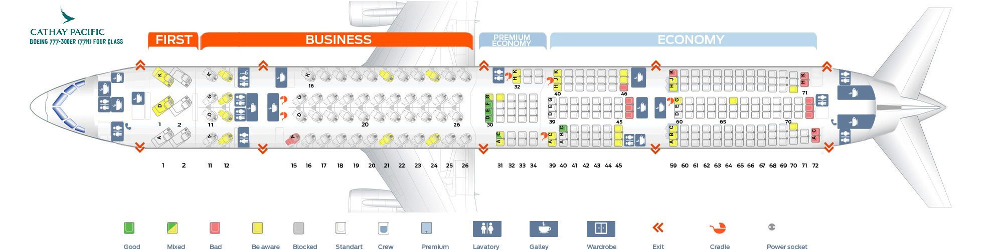 seat map cathay pacific 777 300er Cathay Pacific Fleet Boeing 777 300 Er Details And Pictures seat map cathay pacific 777 300er