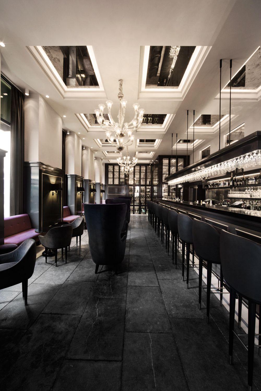 Balthazar Champagne Bar Hotel D Angleterre By Space Copenhagen Bar Lounge Interior Hotel Bar Design Restaurant Interior