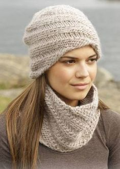 Photo of Hat and Neck Warmer free knitting pattern for a lovely set