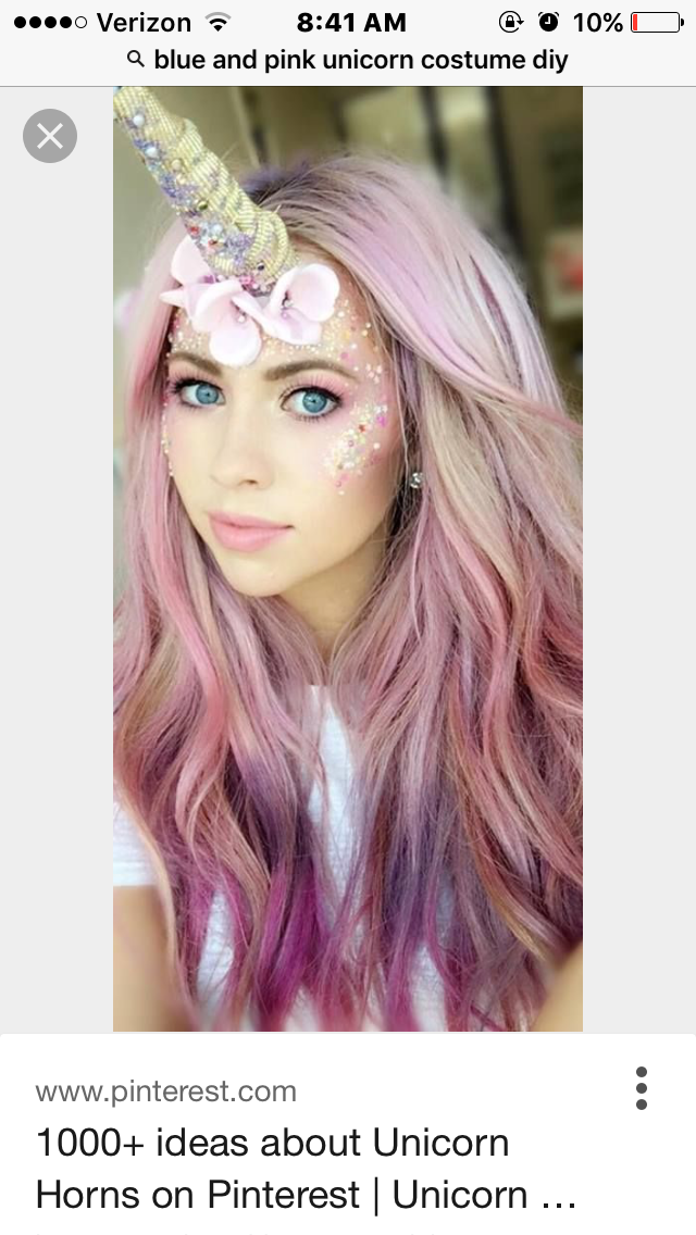 longhairtips Unicorn Make-up pink Hair lilac hair candy floss hair unicorn horn  sc 1 st  Pinterest & Beauty comes in all shapes and sizes | Beauty | Pinterest | Unicorns ...