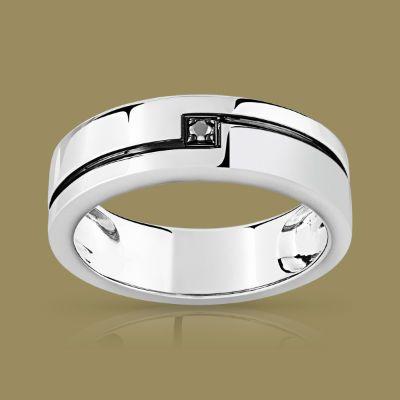 bague or blanc diamant noir maty