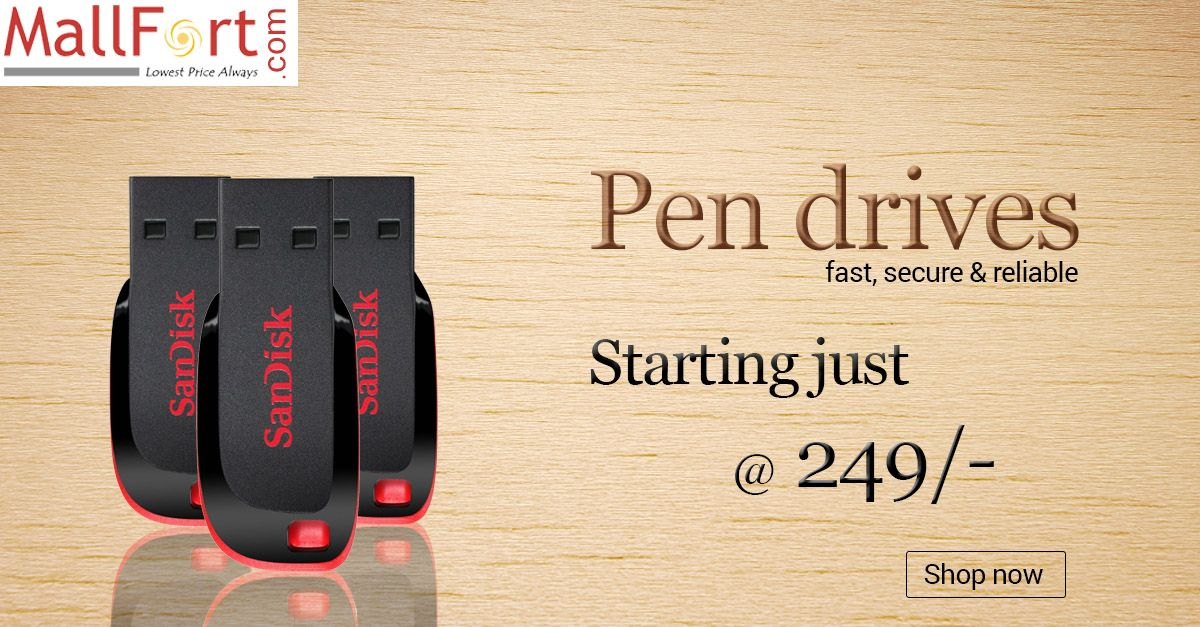 Exciting offers on sandisk pendrives! Starting just @ 249/-