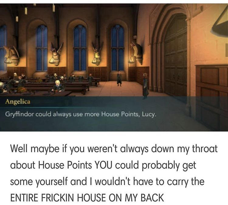 Its Like That No Matter Your House Not Inly That But Every Time You Lose A Single Point Everyone Is Harry Potter Games Harry Potter Universal Hogwarts Mystery
