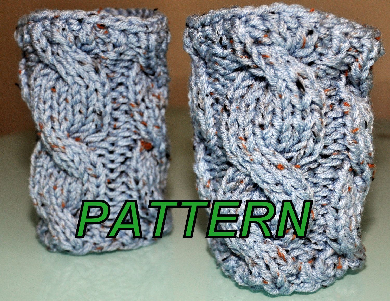 BOOT Tops Cuffs Socks Leg Warmers Pattern PDF Cabled Cozy Knit DIY ...