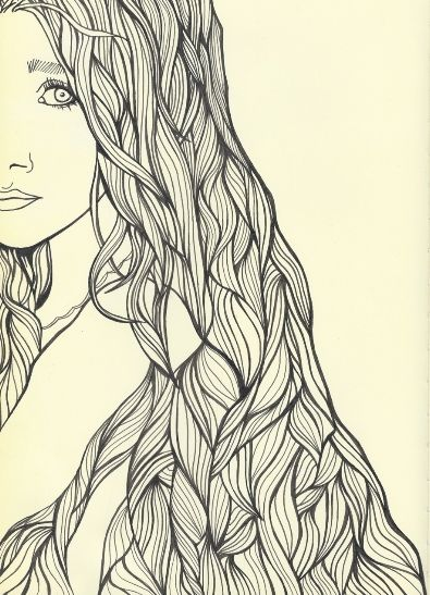 3 Hair Line Drawings Drawings Drawing Images Art Inspiration