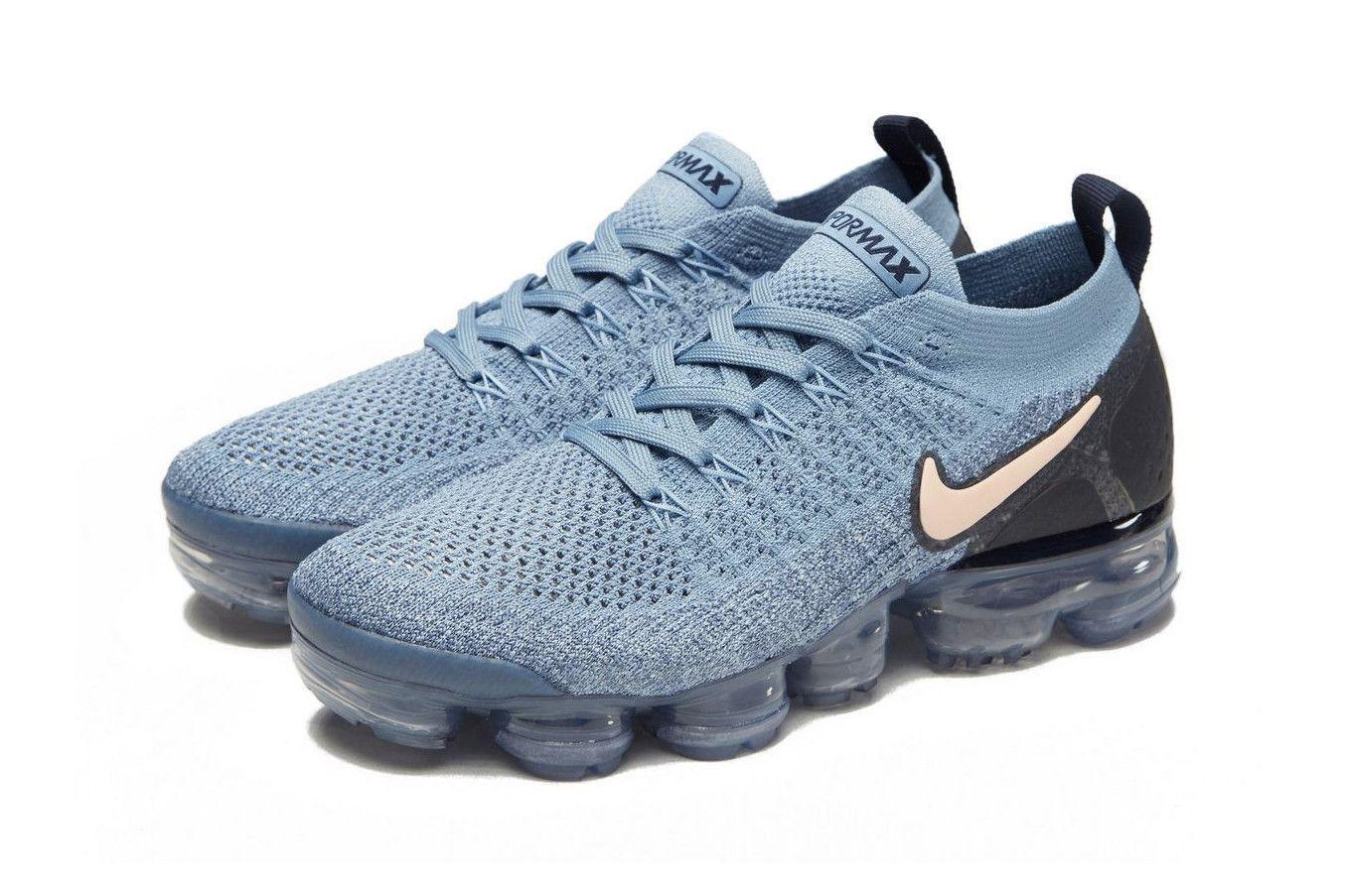 c2eef89f48 Nike Drops Air VaporMax Flyknit 2.0 in Baby Blue Light Blue Womens Sneaker  #womenssneakers. Fashion sneakers.