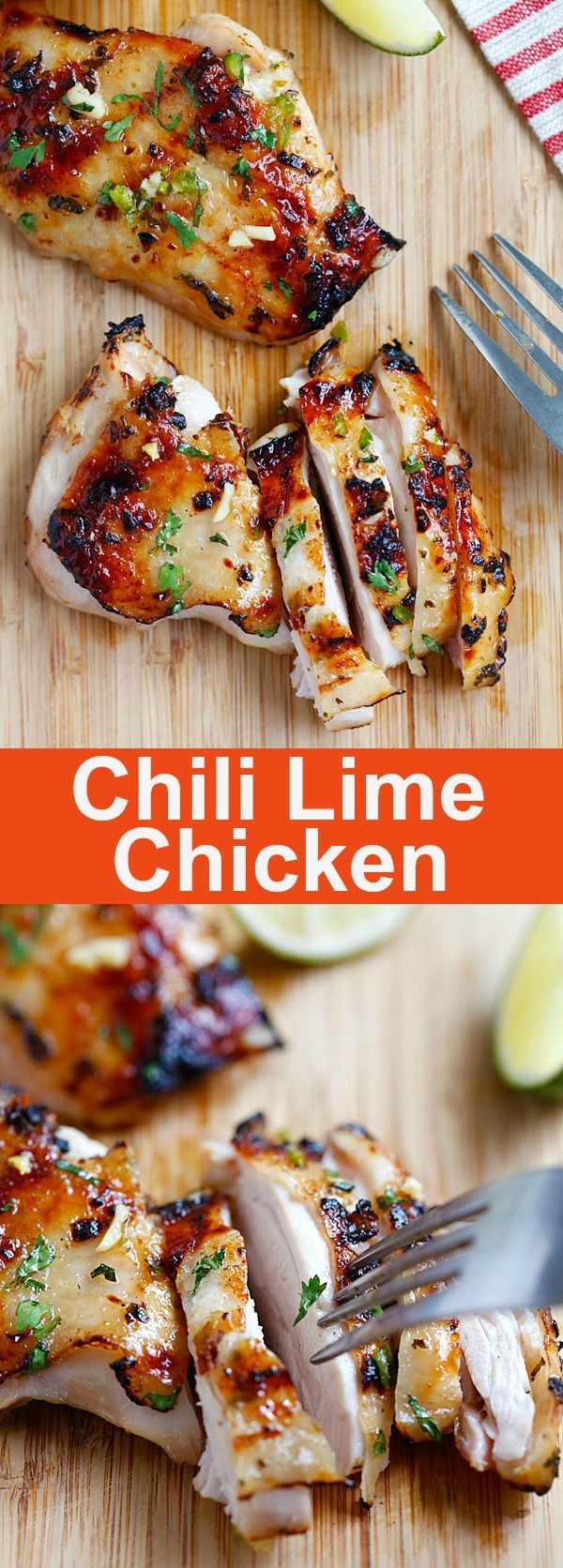 Chili lime chicken – moist and delicious chicken marinated with chili and lime and grill to perfection. SO GOOD   rasamalaysia.com