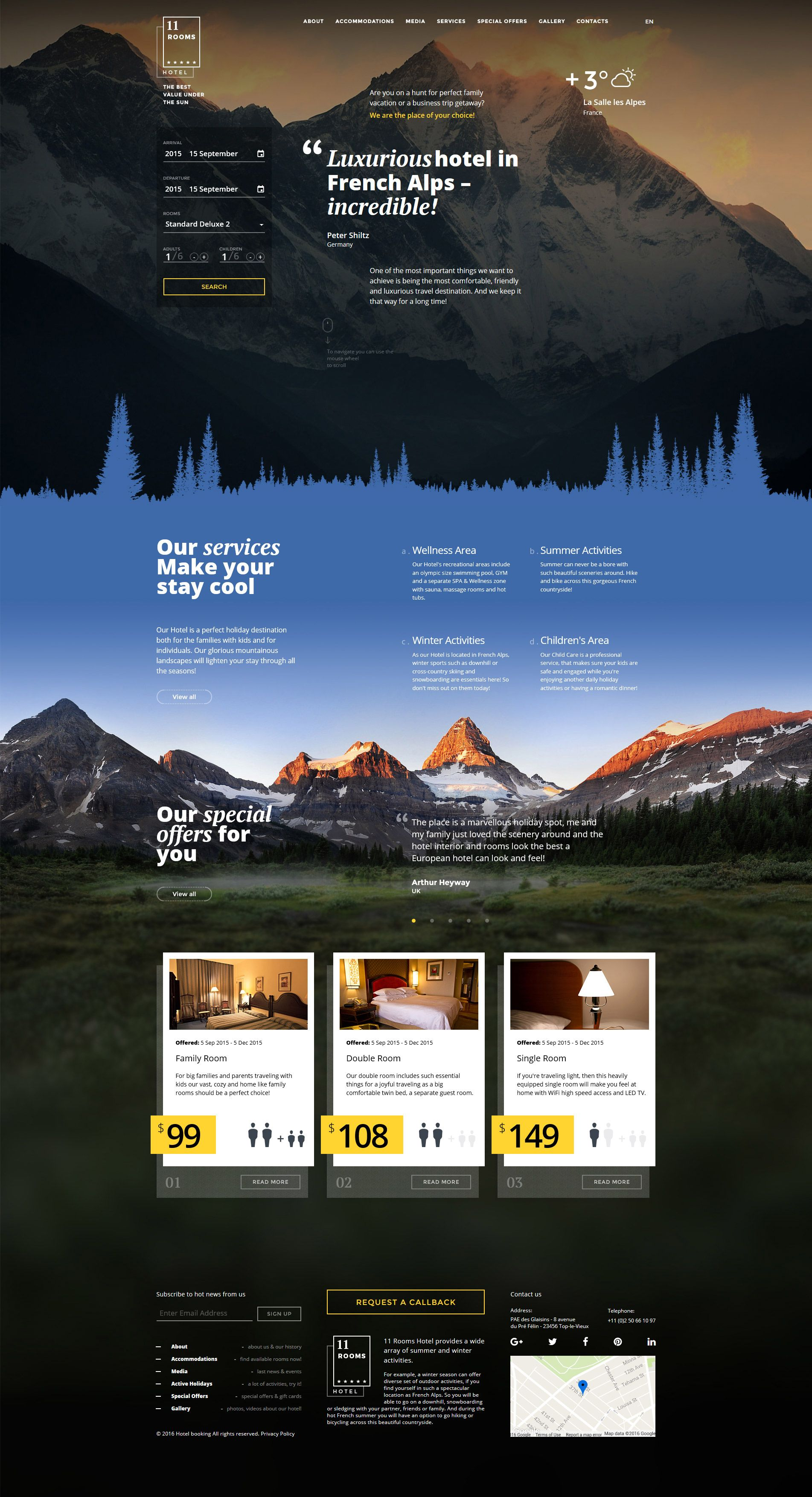 Hotel Website Template 58711