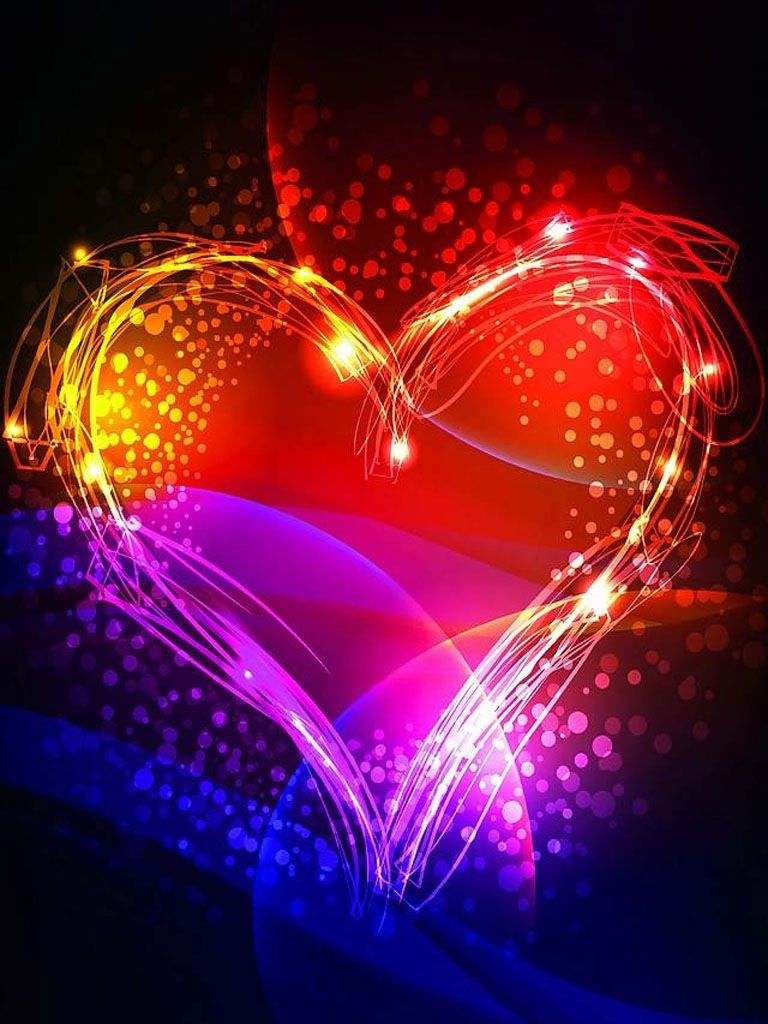 Colorful Heart by KLove4Ever | Art | Heart images, Heart ...