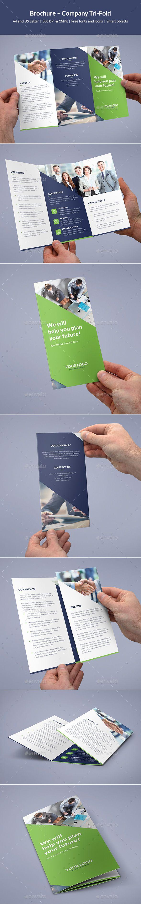 Brochure – Company Tri-Fold | Mediengestalter, Leporello und ...