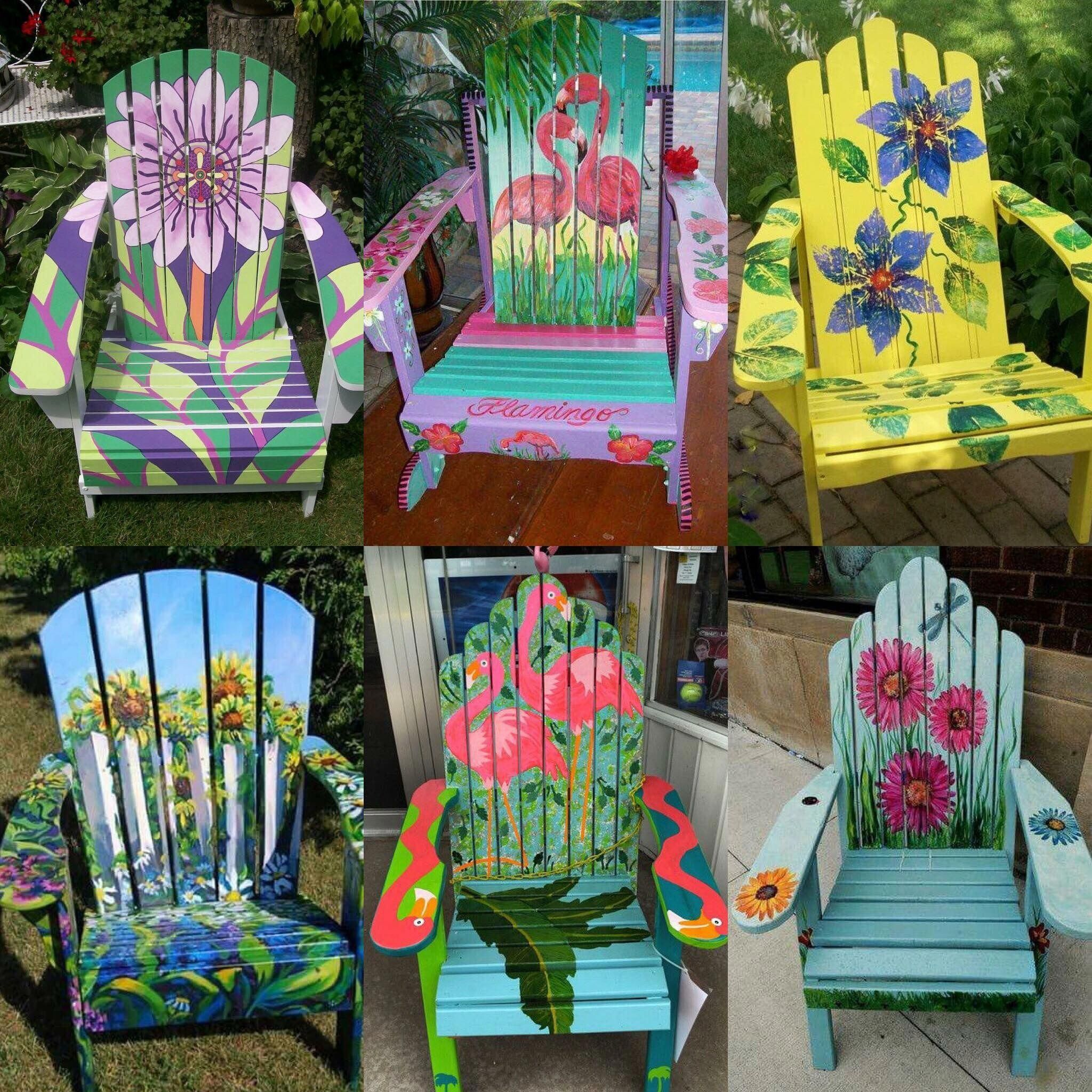 woodenbeachchairs  Painted chairs diy, Painting plastic chairs