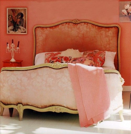 French Style Allows You To Mix Gilded Luxury Like This Bed With Shabby Chic Comfort The Flooring Super Comfy Inviting Bedding Artwork Is A Big