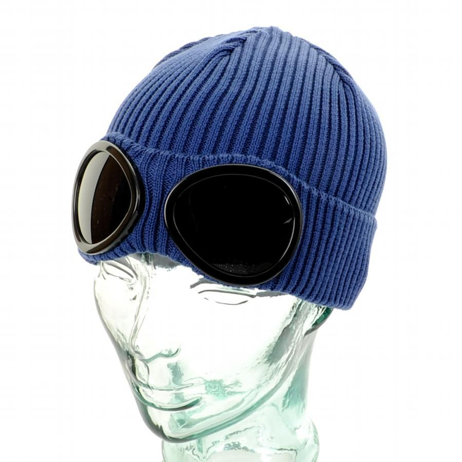 21fe1995b CP Company Goggle Beanie Hat Blue | Style for Men | Beanie hats ...