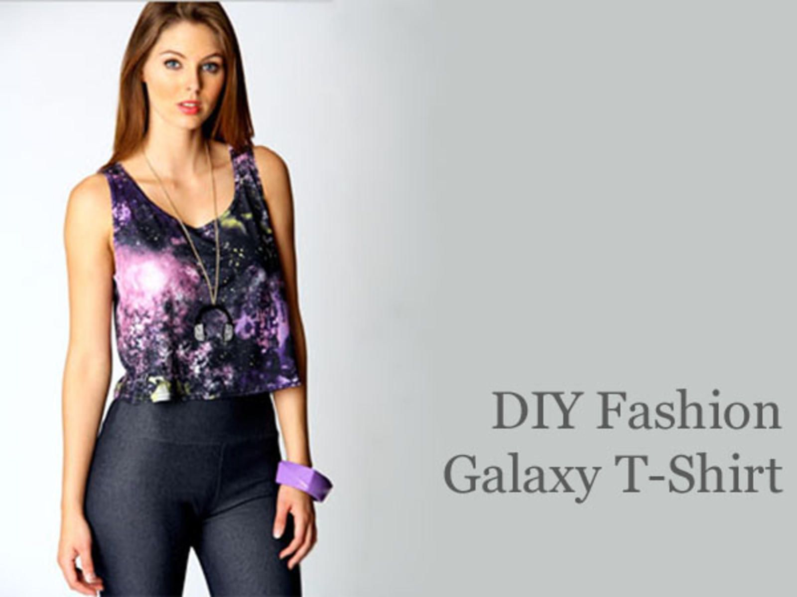 DIY Fashion: Painted Galaxy T-Shirt.