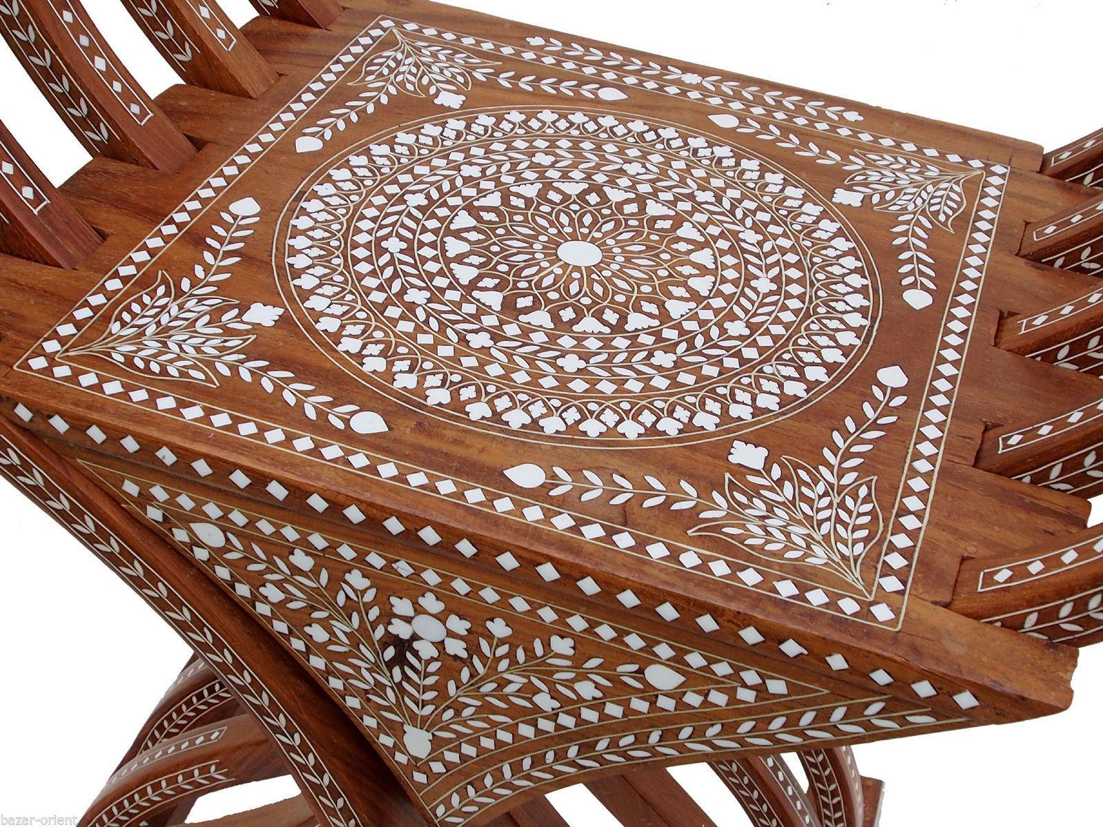 antik luxuriöse orient Stuhl Intarsien antique india Anglo Savonarola chair | eBay