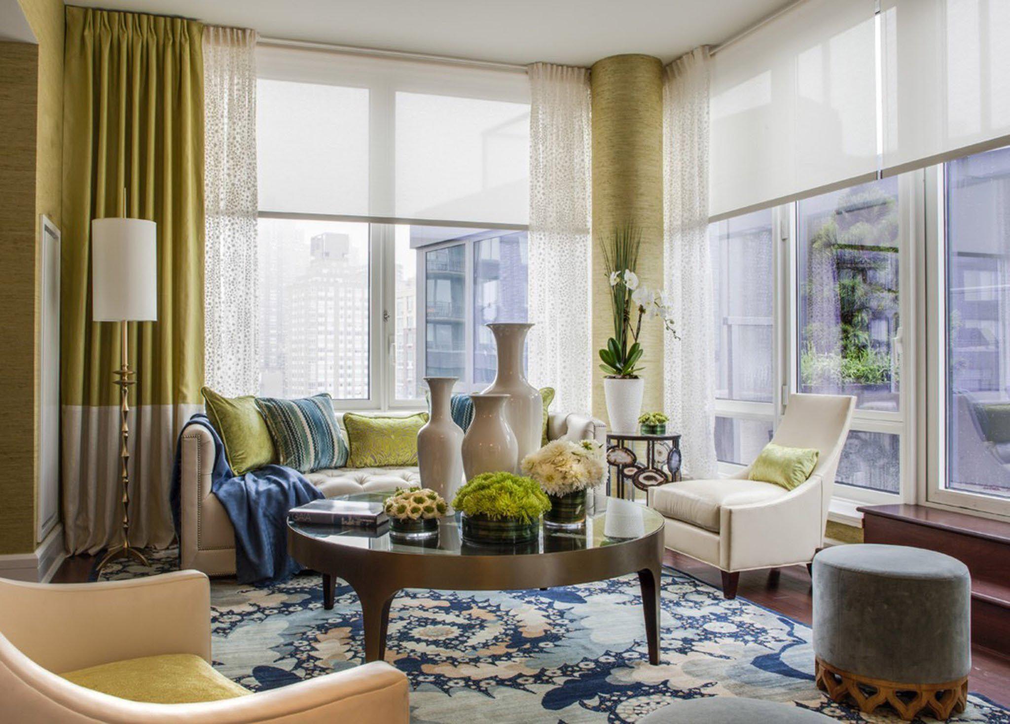 Large Window Blind Ideas Window Treatments Living Room Curtains Living Room Living Room Windows