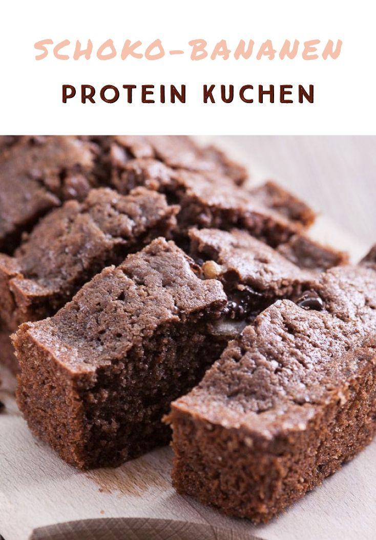 Schoko-Bananen Kuchen mit Protein